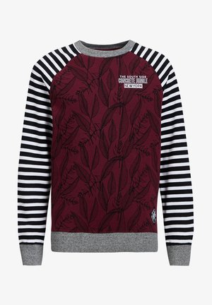 Long sleeved top - burgundy red