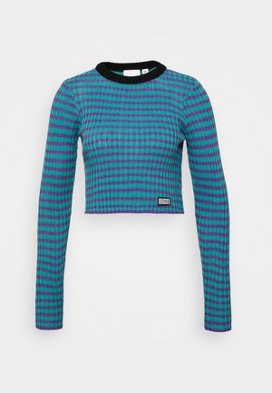 STRIPE LONG SLEEVE - Strickpullover - blue/lilac