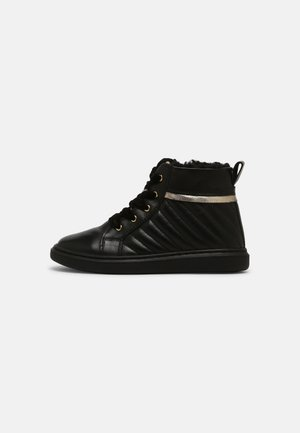LEATHER - Lace-up ankle boots - black