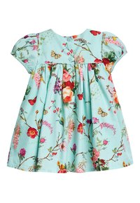 Next - TEAL FLORAL PROM DRESS WITH KNICKERS AND HEADBAND (0MTHS-2YRS) - Korte jurk - blue - 2