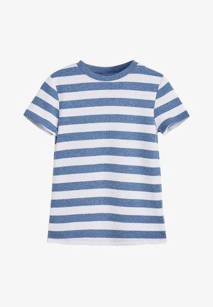BLUE 2 PACK SHORT SLEEVED STRIPE THERMAL TOPS (2-16YRS) - Print T-shirt - blue