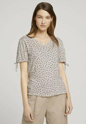 T-shirt imprimé - beige geometrical design