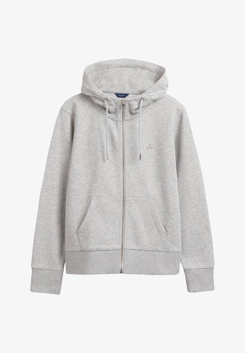 GANT - Zip-up sweatshirt - light grey melange