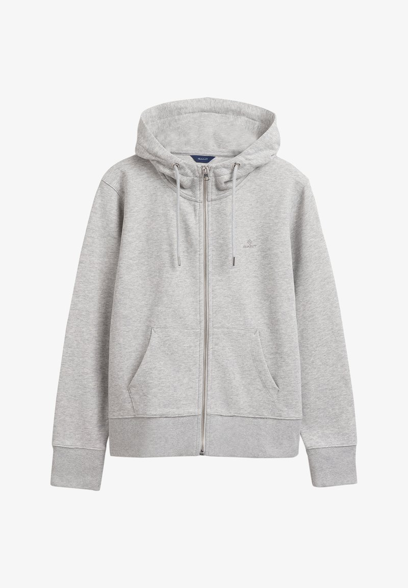 GANT - Zip-up hoodie - light grey melange