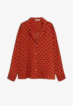 EVERY - Button-down blouse - bräunliches orange
