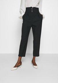 Pinko - JOSEPH TROUSERS - Trousers - dark grey - 0