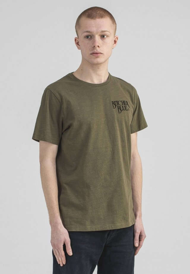 Print T-shirt - kelly green