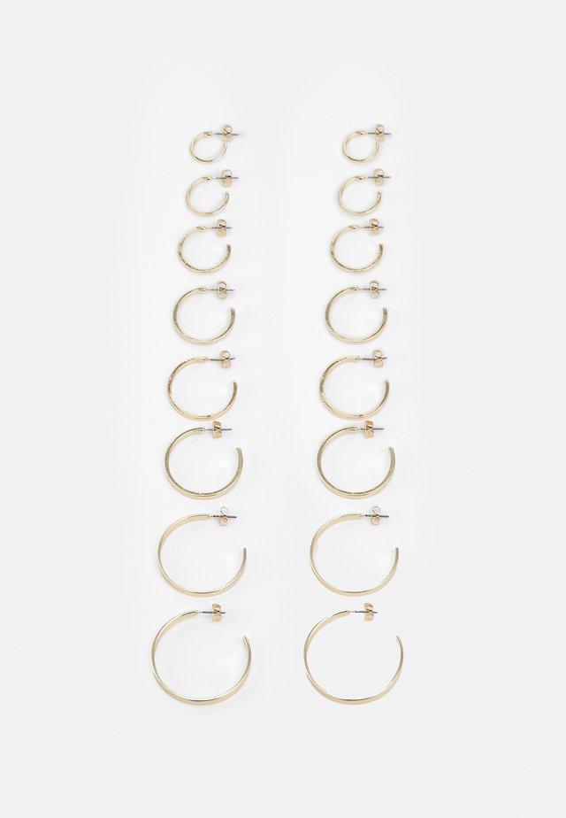 FGHOLLY EARRINGS 8 PACK - Earrings - gold colour