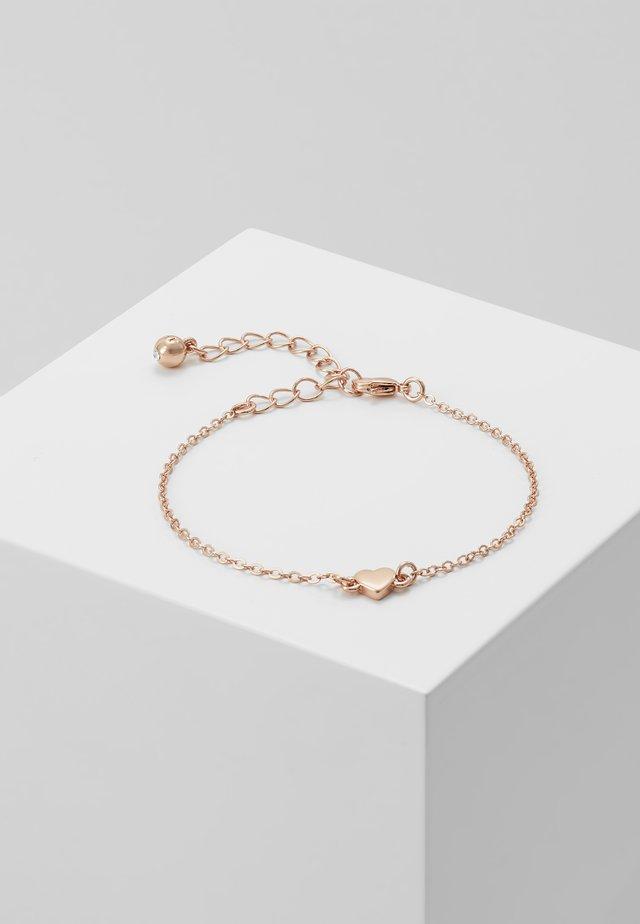 TINY HEART BRACELET - Náramek - rose gold-coloured