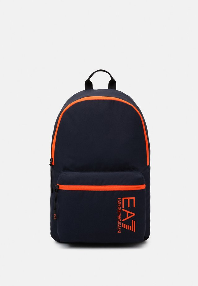 UNISEX - Rucksack - night blue/orange fluo