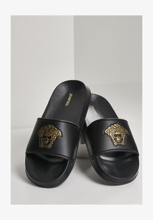 Badslippers - blk gold