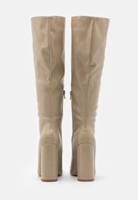 Missguided - TUBULAR BOOT - High heeled boots - taupe - 3