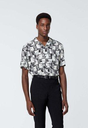Shirt - ecru black