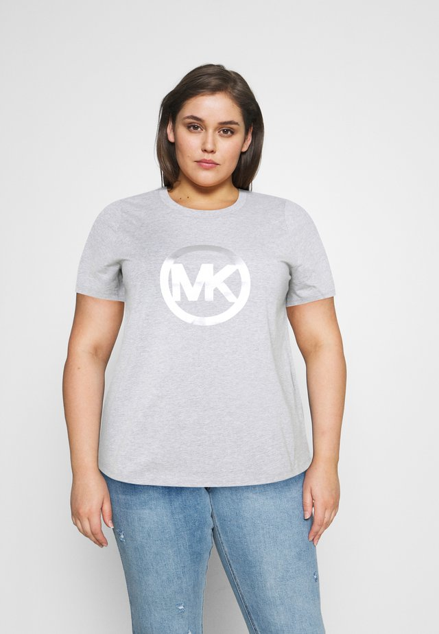 FOIL CIRCLE LOGO TEE - Camiseta estampada - pearl heather