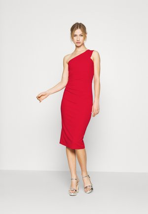GRACE RUCHED DRESS - Shift dress - red