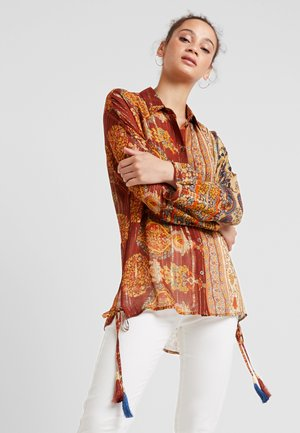 SHURI - Button-down blouse - borgoña