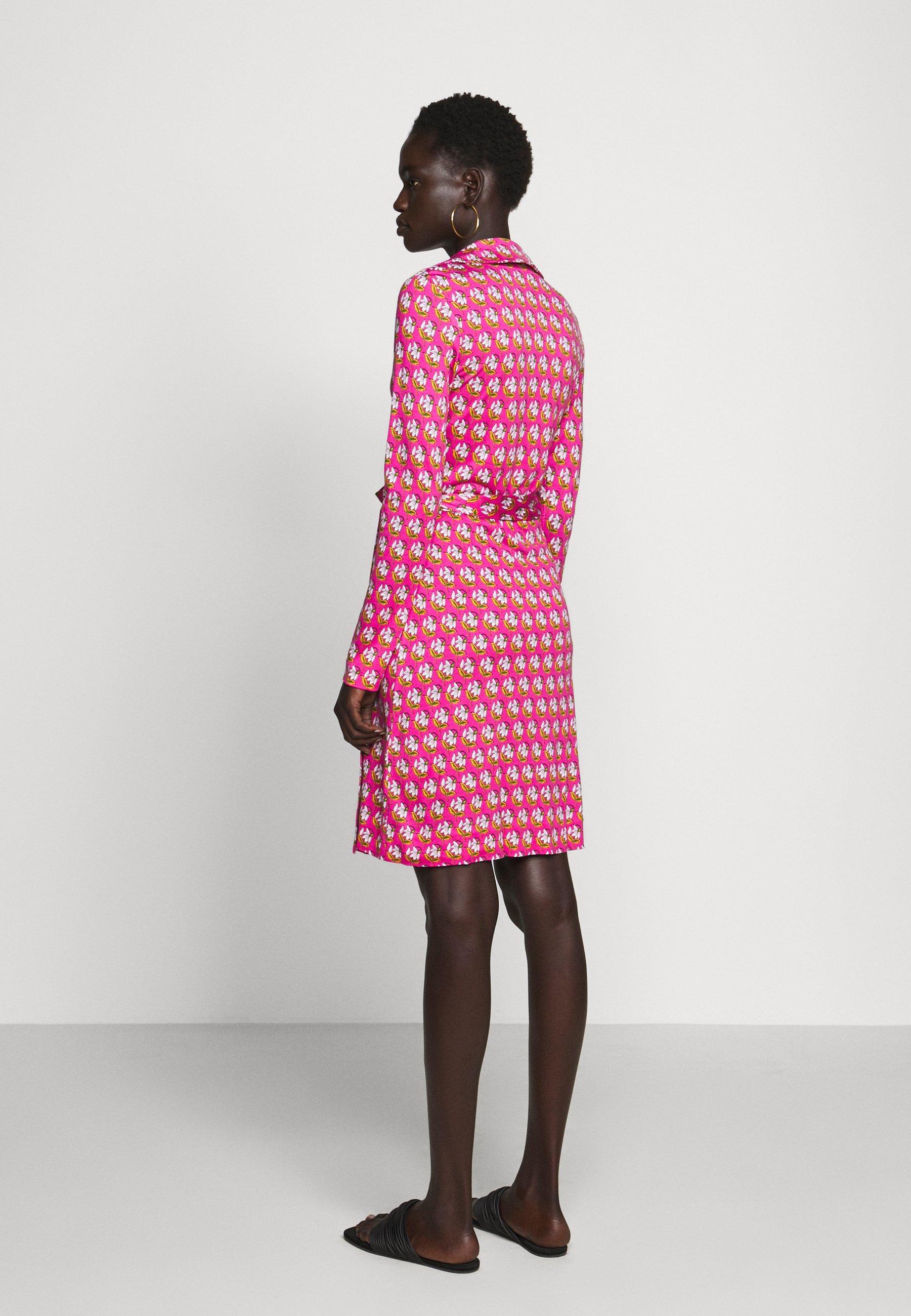 Diane von Furstenberg NEW JEANNE  Freizeitkleid pink