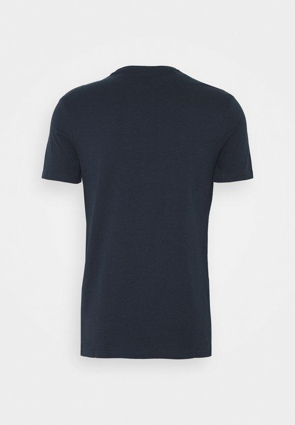 Pier One T-shirt z nadrukiem - blue/niebieski Odzież Męska BAWA