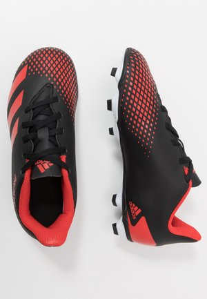 PREDATOR - Moulded stud football boots - core black/active red