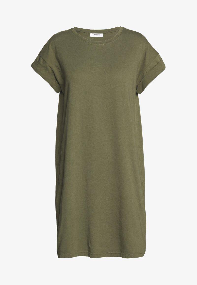 Moss Copenhagen - ALVIDERA ADDI PLAIN DRESS - Jersey dress - kalamata