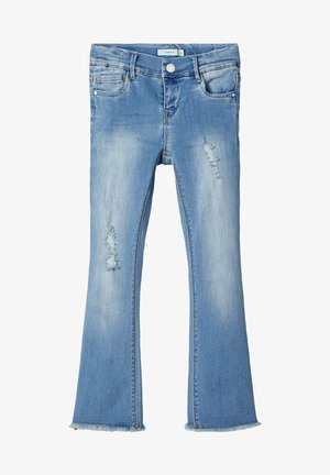 NKFPOLLY DNMTOFIA1314 BOOT 7/8 PANT - Jeans Bootcut - light blue denim