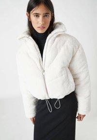 PULL&BEAR - Winter jacket - white - 4
