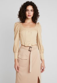 Missguided - CORSET STYLE - Bluse - sand - 0