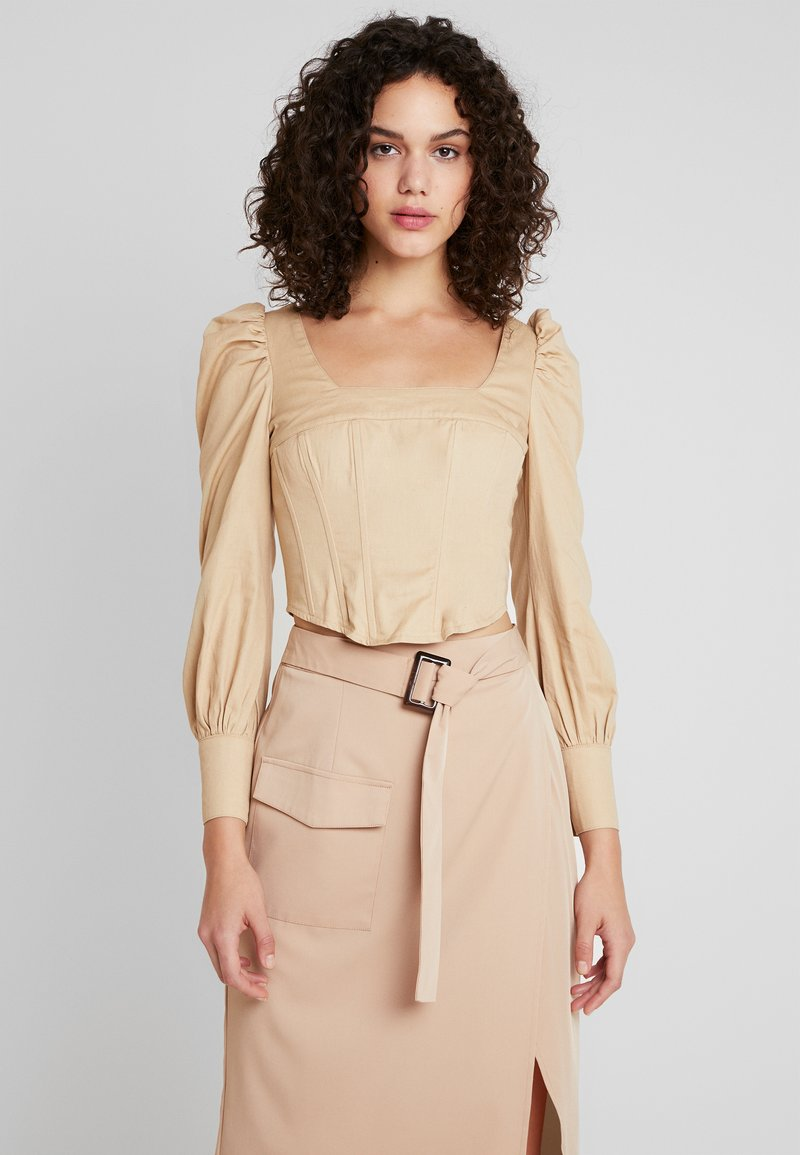 Missguided - CORSET STYLE - Bluse - sand