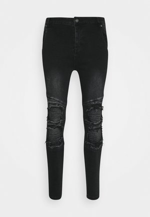 BIKER - Skinny džíny - washed black