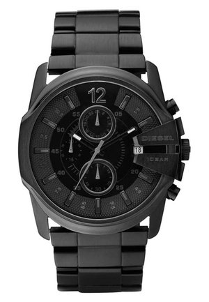 MASTER CHIEF - Chronograph watch - black