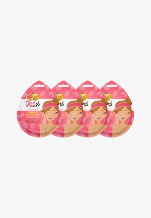 YES TO GRAPEFRUIT VITAMIN C GLOW BOOSTING MUD MASK 4 PACK - Face mask - -