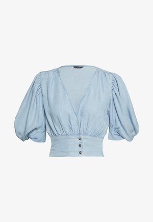 JODY TOP - Blouse - light-blue denim