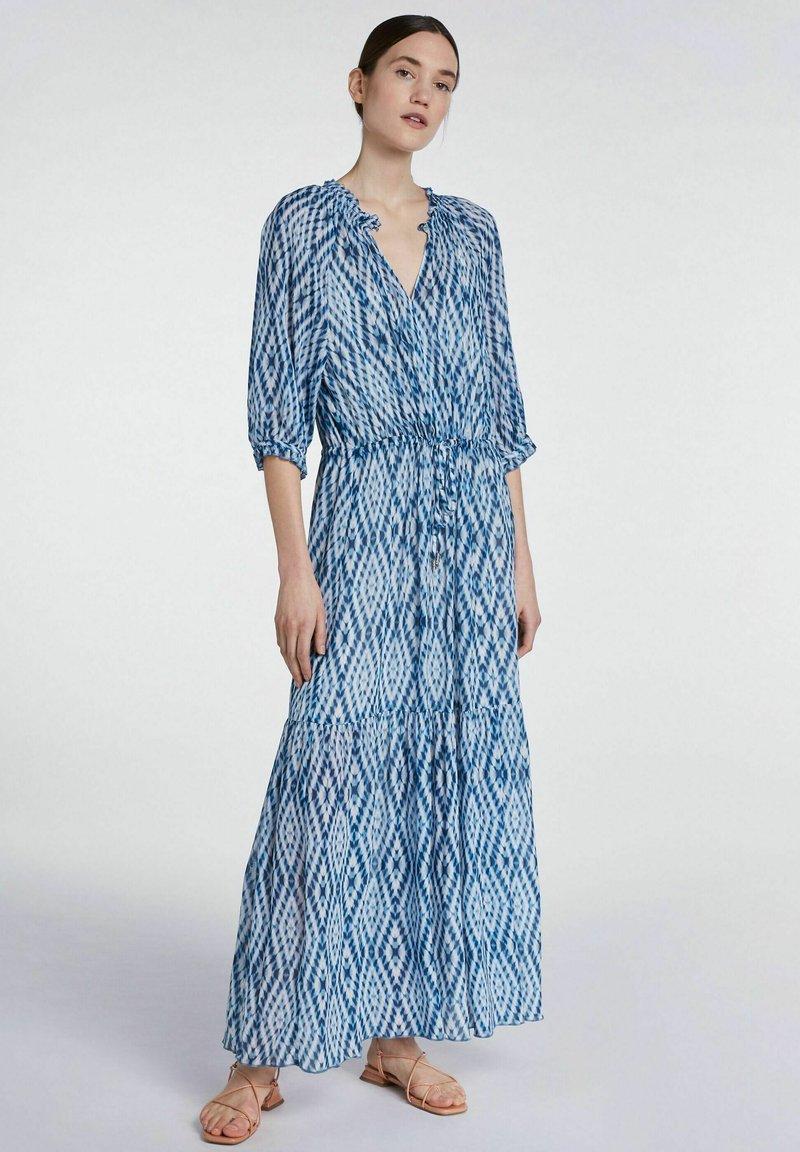 SET - Maxi dress - white blue