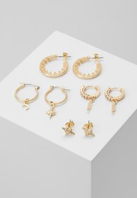 Pieces - PCSPACE 4 PACK - Earrings - gold-coloured - 0