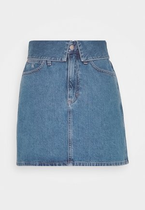 HIGH RISE MINI SKIRT - Falda vaquera - blue denim