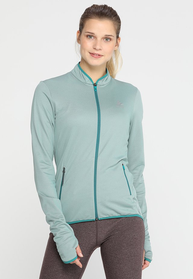 MIDLAYER FULL ZIP FLI - Fleece jacket - bayou/surf spray