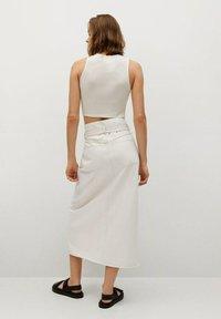 Mango - LIVE - A-line skirt - écru - 2