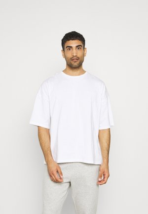 OVERSIZED CREW NECK - Camiseta básica - white