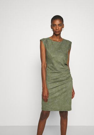 KAJUDI INDIA DRESS - Shift dress - olivine