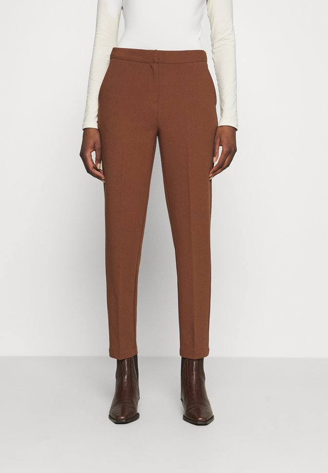 FLORE PANTS - Pantaloni - cacoa brown