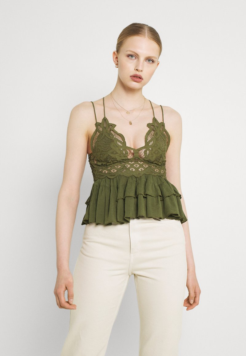 Free People - ADELLA - Top - olive sparrow