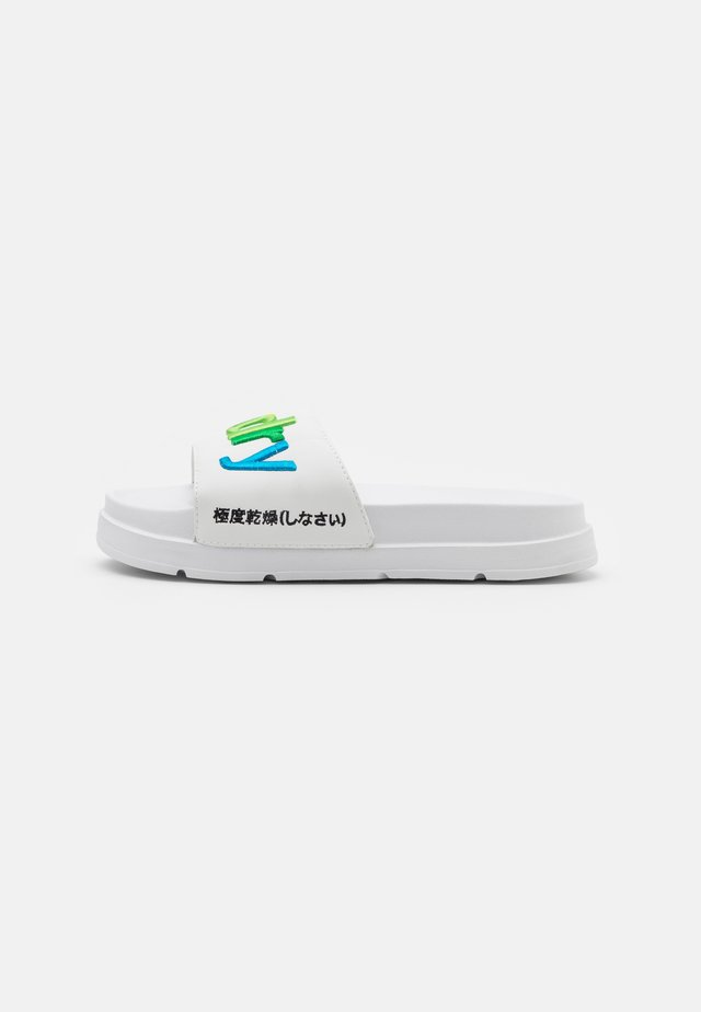 RAINBOW FLATFORM SLIDE - Pantofle - white