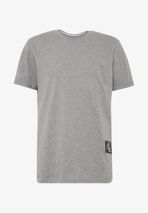 BADGE TURN UP SLEEVE - Basic T-shirt - mid grey heather