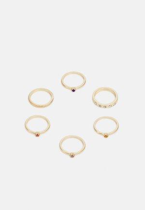 PCPOY 6 PACK SET  - Pierścionek - gold-coloured/clear