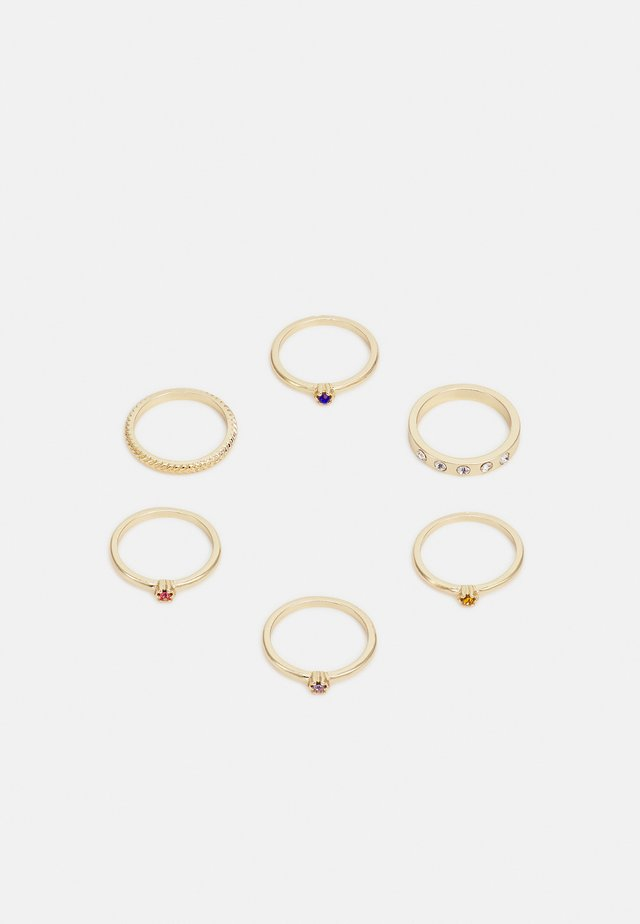PCPOY 6 PACK SET  - Ring - gold-coloured/clear