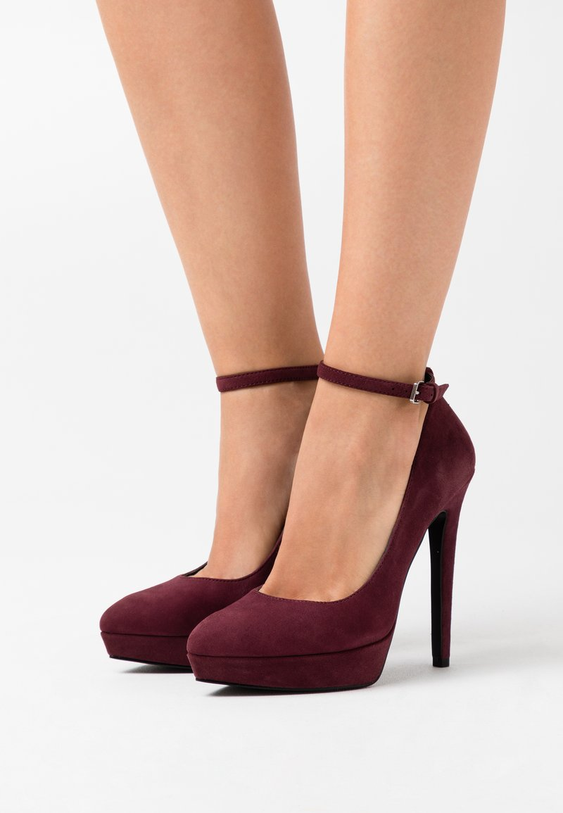 Even&Odd - LEATHER - High heels - bordeaux