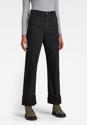 TEDIE ULTRA HIGH STRAIGHT - Straight leg jeans - jet black
