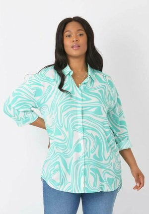 AQUA SWIRL - Button-down blouse - turquoise