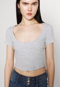 Even&Odd - 3 PACK - Camiseta estampada - black/white/mottled light grey - 5