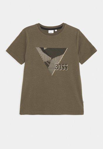 SHORT SLEEVES TEE - Print T-shirt - khaki